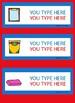 Dual Language Classroom Labels EDITABLE