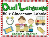 Dual Language Classroom Labels English and Spanish