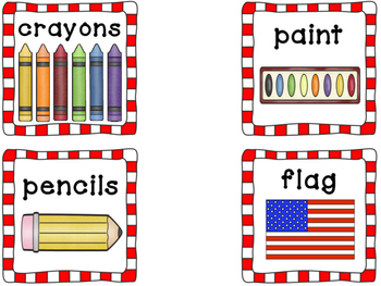 Dual Language Classroom Labels English and Spanish