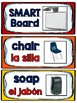 Dual Language Classroom Labels in English and Spanish