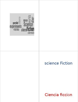 Dual Language - Classroom Library Genre Labels, Wordle Inspired