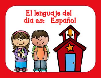 Dual Language Classroom Set Up Bundle
