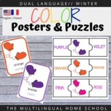 Bilingual Color Word Posters and Puzzles #covid19wl