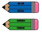 Dual Language Color Signs
