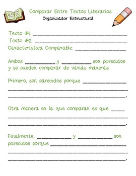 Dual Language - Compare Across Texts Structural Frames SPANISH [Green]