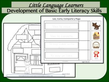 "Spanish Dual Language ESL: Comprehension + Vocabulary-""Little Red Riding Hood"""