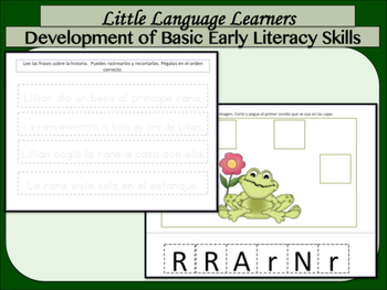 "ELL Newcomers: Spanish Dual Language Comprehension and Vocabulary-""Frog Prince"""