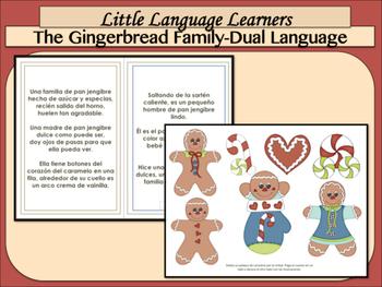 "Spanish Dual Language Bilingual Comprehension + Vocabulary ""Gingerbread Family"""