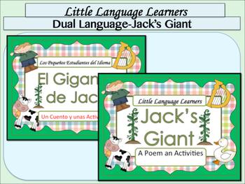"Spanish Dual Language Bilingual: Comprehension + Vocabulary- ""Jack's Giant"""