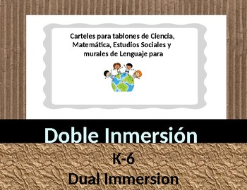 Dual Language Dual Immersion Doble Inmersión All Grades Concept Wall Posters