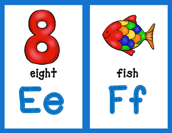 Dual Language English Alphabet Posters