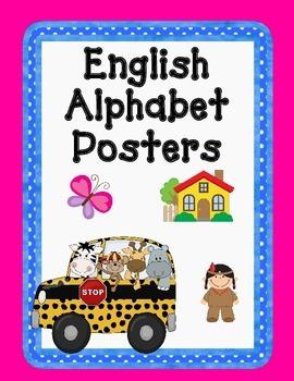 Dual Language English Alphabet Posters: Gomez and Gomez Style