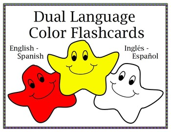 Dual Language (English - Spanish) Color Flashcards