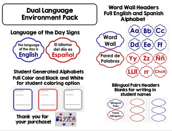 Dual Language Environment Frame Pack for Gomez and Gomez Classroom