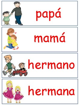 Dual- Language Family Tree Word Bank