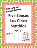 Dual Language Five Senses Center (English & Spanish)