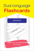 Dual Language Flashcards (EDITABLE)