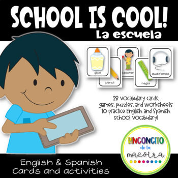 Dual Language Fun at School (English - Spanish)