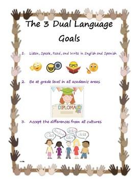 Dual Language Goals-English and Spanish