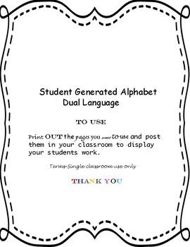 Dual Language Gomez and Gomez style Student Generated Alphabet