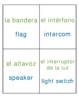 Dual Language [Green/Blue] Classroom Labels - Intermediate Grades