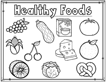 Dual Language Healthy Foods Coloring Sheets Activities For
