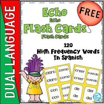Dual Language Bilingual Spanish High Frequency Word Flash Cards