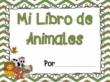 Spanish Scrambled Sentences for Dual Language/Bilingual:  ANIMALES (Animals)