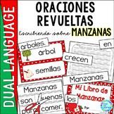 Spanish Scrambled Sentences for Dual Language Bilingual MANZANAS (Apples)