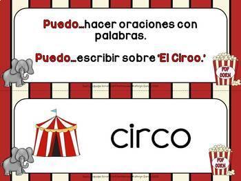 Spanish Scrambled Sentences CIRCO Circus