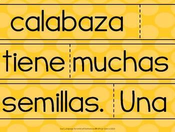 Spanish Scrambled Sentences CALABAZAS Pumpkins