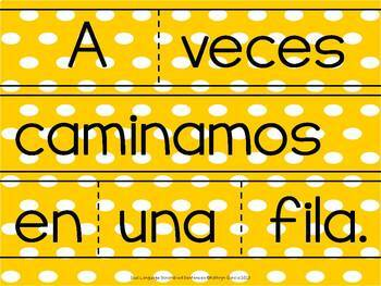 Spanish Scrambled Sentences for Dual Language/Bilingual:  REGLAS (Rules)