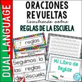 Spanish Scrambled Sentences for Dual Language Bilingual REGLAS (Rules)