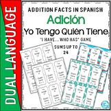 Dual Language Bilingual Spanish Yo Tengo Quién Tiene Addition game