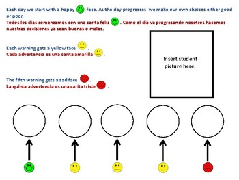 Dual-Language Individual Student Behavior Cards