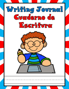 Dual Language Journal Covers and Paper:  EDITABLE