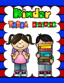 Dual Language Kinder Homework Helper:  Dual Kinder Homework Folder