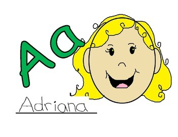 Dual Language Kinder Self Generated Alphabet Self Portraits (32 pgs)