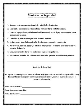 Dual Language Lab  Safety Rules in the Lab and Contract