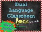 Dual Language Classroom Labels *BUNDLE*