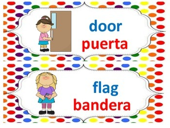 Dual Language Labels for the Classroom
