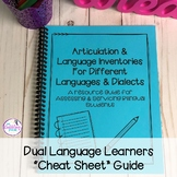 "Dual Language Learners ""Cheat Sheet"" Guide"