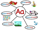 Dual Language Letter Webs - A-Z English/Spanish