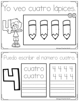 Dual Language Little Book of Numbers Bundle