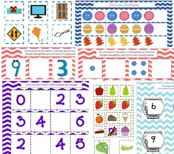 Dual Language Math Folder Games-Spanish and English