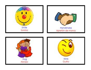 Dual Language Morning Greeting Cards, Bilingual