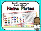 Dual Language Name Plates in English & Spanish