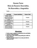 Dual Language - Natural Resources Project Menu SPANISH