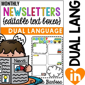 Dual Language Newsletters with Editable Text Boxes