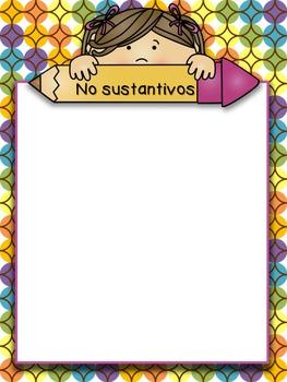 Noun/Sustantivos Sorting Game and Worksheets - Dual Language/Bilingual
